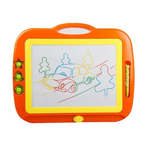 DYW-pizarra mágica Tablero de Dibujo Tablero de Escritura magnético Color Tablero de Graffiti Extra Grande (Color : Orange)