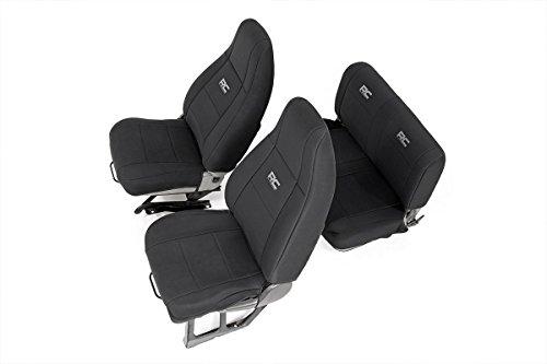 Rough Country 91009 Jeep Neoprene Seat Cover Set | Black | 91-95 Wrangler YJ