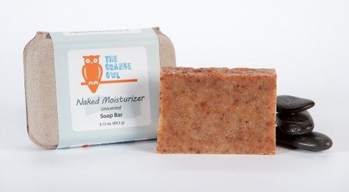 The Orange Owl 100% Vegan Soap - Naked Moisturizer (Unscented)