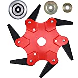 VAGYD 6 Teeth Trimmer Head, Blade 65Mn, Brush Cutter Cutting Head Replacement, for Mower Lawn Trimmer, with Group Work Head Accessories (Red)