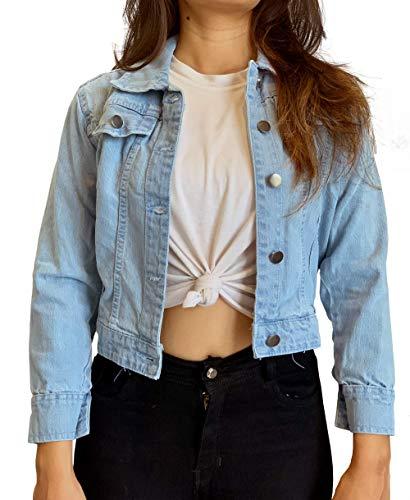 Shocknshop Full Sleeve Solid Crop Women Denim Jacket