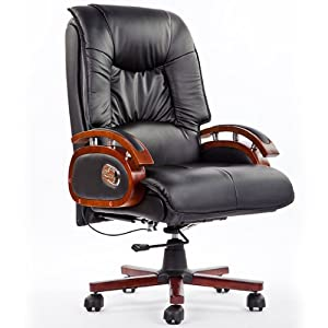 Luxury PU Manager Chair Leather Office Chair Unique Design Reclining Function