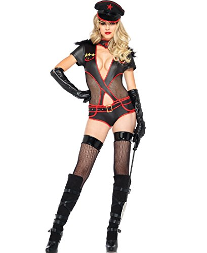 Adam's Temptation Women's Ms. Militant Sexy Soldier Lingerie 3-Piece Costume Set (One Size) (Sexy Soldier Costumes)