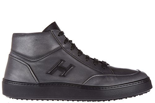 Hogan zapatos zapatillas de deporte largas hombres en piel nuevo h302 demi boot