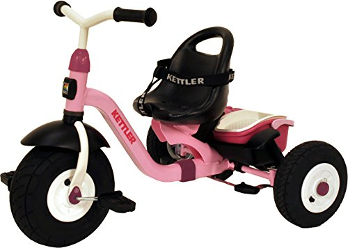 Kettler Tricycle Push Bar - Kettler Happy Air Navigator Stella Convertible Tricycle with Push Handle for Steering and Toy Sand Bucket, Toddler Stroll and Ride Trike