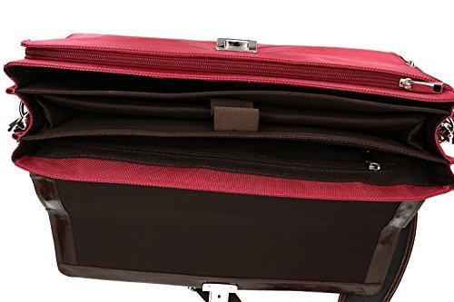 Cartella rossa tech ORNA inserti in 916 pelle VH97 con professionale borsa wOEwtq5