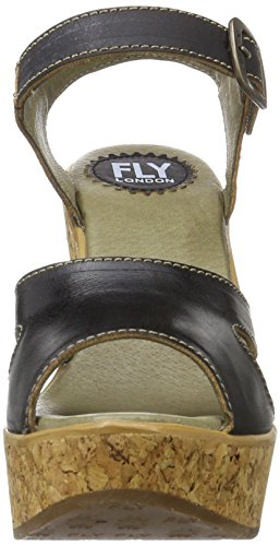sale very cheap Fly London Women's Hull978fly Wedge Sandals Black (Black 000) for sale cheap authentic 6ZUCX3J