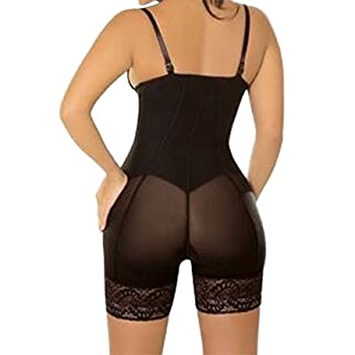 SJINC Women's Full Body Shaper Underbust Post Surgery Firm Control Shapewear Bodysuit