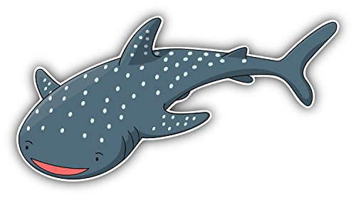 (Shark Whale Cartoon Animal Art Decor Bumper Sticker 6'' x 3'')