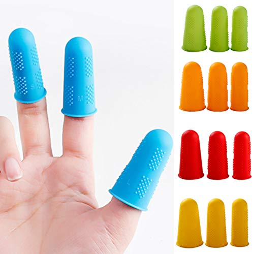 Finger Protectors 3/5pcs Elasticity Solid Anti-hot Durable Kitchen Accessories Silicone Plate Anti-slip Multicolor Caps Home Use High Temperature Resistant by Lovt (Image #7)
