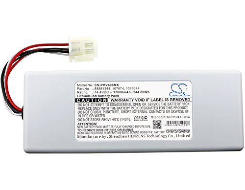 Cameron Sino High Capacity Li-ion 14.40V 17000mAh/244.80Wh Compatible With Philips 1056921,058272,1076374,107674,88881344,989805626941,M48385-B0, Fits Respirateur V60 / V60S, Respironics V60 / V60S by Cameron Sino
