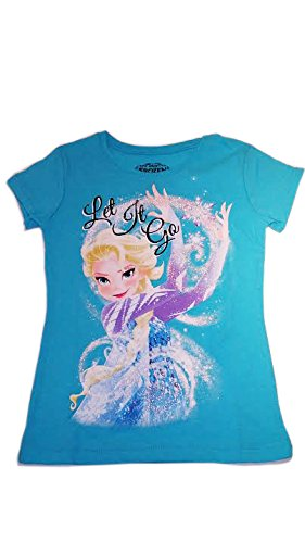 Disney Frozen Elsa Let It Go Blue Short Sleeve Shirt