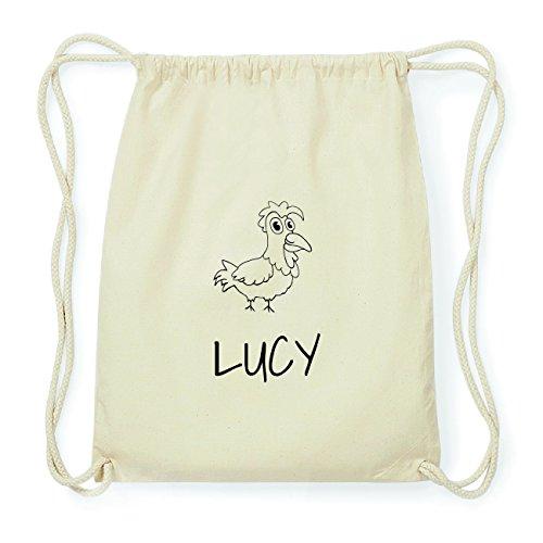JOllipets LUCY Hipster Turnbeutel Tasche Rucksack aus Baumwolle Design: Hahn Rt9p5z
