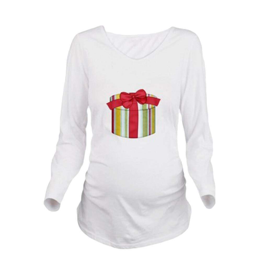 Fangcheng maternità Vestiti Donne Incinte T-Shirt Casual Allentato O Collo Manica Lunga Patchwork Gravidanza Top