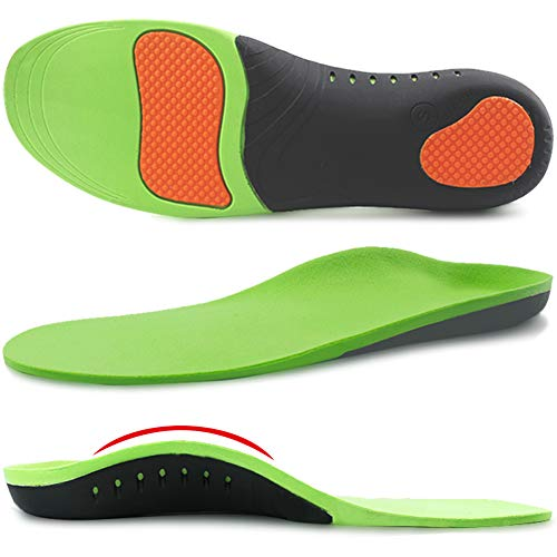 (Ailaka High Arch Support Orthotic Shoe Insoles for Men and Women, Shock Absorption Gel Cushion Sports Inserts for Flat Feet, Plantar Fasciitis, Feet Heel Pain Relief)