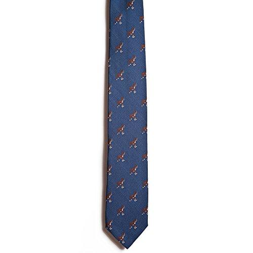 Chipp 2 Boxer Silk Necktie with Deep Blue Background - Boxer Necktie