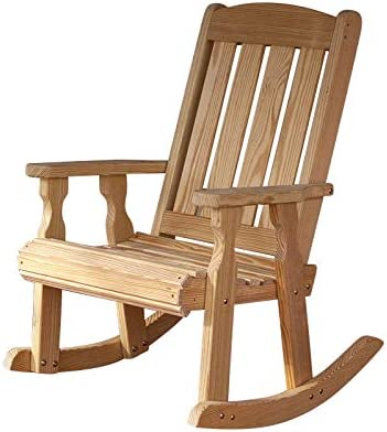 Amish Heavy Duty 600 Lb Mission Pressure Treated Rocking Chair Unfinished