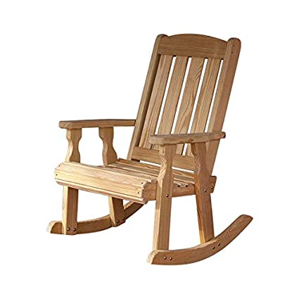 Attirant Amish Heavy Duty 600 Lb Mission Pressure Treated Rocking Chair (Unfinished)