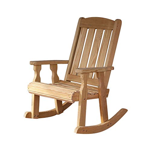 Unfinished Rocking Chairs - Amish Heavy Duty 600 Lb Mission Pressure Treated Rocking Chair (Unfinished)