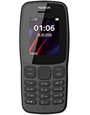 Nokia 106 Single Sim (2018) TA-1190 Dual-Band (850/1900) Factory GSM Unlocked Feature Phone (International Model)