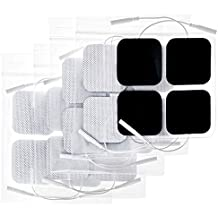 POHAKU TENS Unit Pads 2x2 20pcs, Reusable Replacement Pads Electrode Patches with Upgraded American Gel and Non-Irritating Design for Electrotherapy