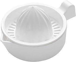 Xdodnev Mini Plastic Double Layer Household Manual Citrus Juicer Orange Lemon Fruit Squeezer Cup with Handle Pour Spout Portable Kitchen Machine
