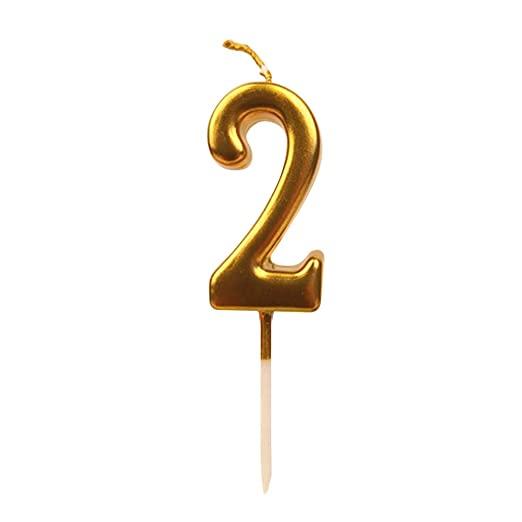 Toyvian Number Candles Cake Candles Gold Glitter Feliz ...