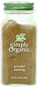 Simply Organic Nutmeg Ground CERTIFIED ORGANIC 2.3oz. bottle