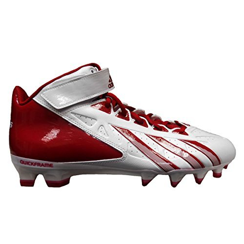 adidas Men's AS SMU Filthy Quick Hi NCAA Football Cleats (13, Running White/Unired/Unired)