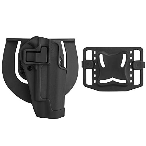 SpeedSuprex for 1911 Holster | Tactical CQC Serpa Concealment Quick Waist Paddle Belt Loop Pistol Holster Gun Case Pouch for Golt 1911 M1911(Black, Right Hand)