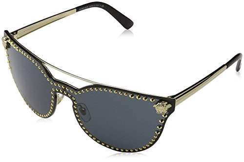 Versace Womens Sunglasses Gold/Grey Metal - Non-Polarized - - Versace Shades Women