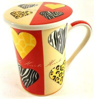 Kent Pottery - Kent Pottery Hearts Mug with Lid