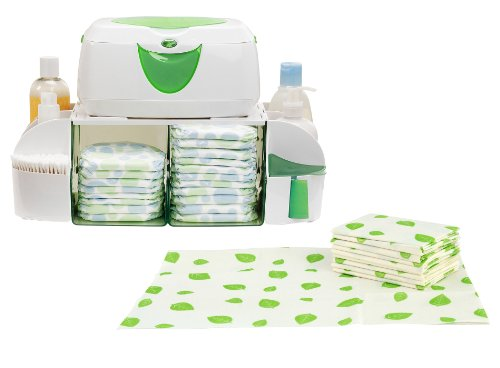 Munchkin Diaper Duty Organizer with 40 Count Disposable Changing Pads by Munchkin