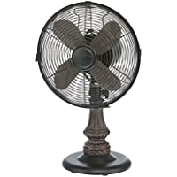 DecoBREEZE Oscillating Table Fan 3 Speed Air Circulator Fan, 10 In, Harrison