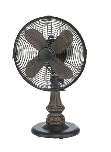 DecoBREEZE Oscillating Table Fan 3 Speed Air Circulator Fan, 10 In, Harrison Deco Breeze Table