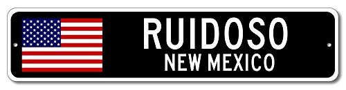 RUIDOSO, NEW MEXICO USA City Flag Sign Aluminum Patriotic Sign - 4