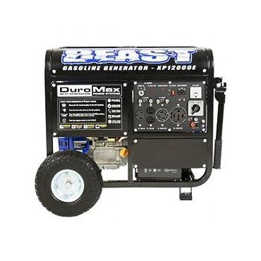 DuroMax XP12000E 12000W Portable Gas Electric Start Generator