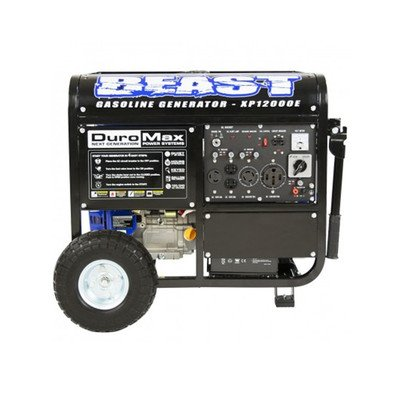 DuroMax XP12000E 12000W Portable Gas Electric Start Generator by DuroMax