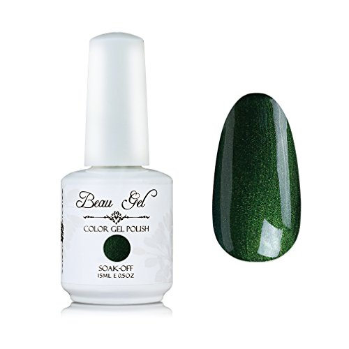 UV Gel Nail Polish Nail Varnish Art Manicure Decoration Beau Gel 15ml Pearl Dark Green (650)