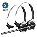 Mpow V4.1 Bluetooth Headset, Over The Head Wireless Telephone Headset with Microphone, Noise