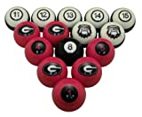 NCAA Georgia Bulldogs Numbered Pool Balls Set - College Football Billiards