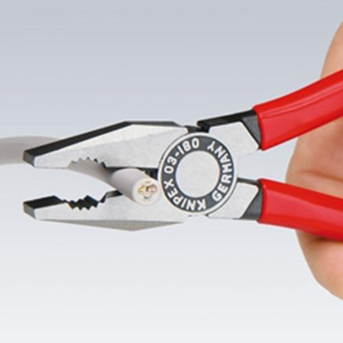Knipex 03 02 200 SB Pinza Universale Bonderizzata Nera Rivestiti in Materiale Bicomponente 200 mm