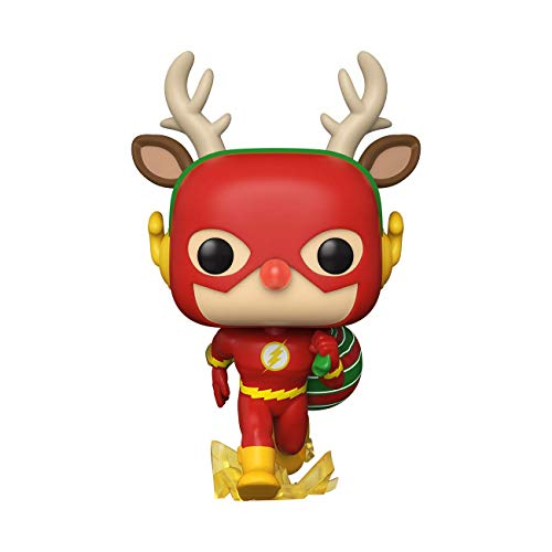 Funko- Pop Heroes DC Holiday-Rudolph Flash Comics Holidays S1 Figura Coleccionable, Multicolor (50654)