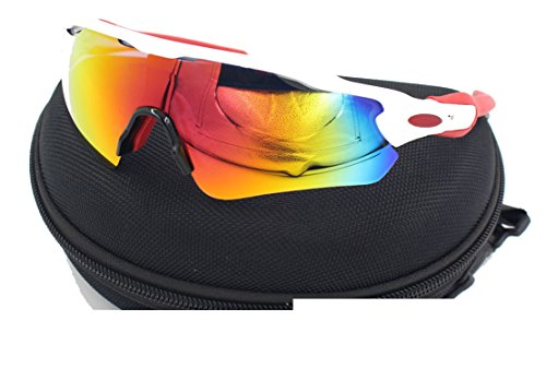 The new TR material radar ev radar sports sunglasses myopic polarizer female men riding glasses,White Red