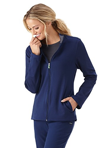 White Swan Pull - Jockey 2399 Women's Modern Fit Tech Fleece Jacket - Comfort Guaranteed New Navy S