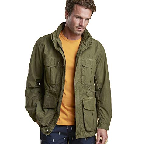 Barbour Crole Casual - Chaqueta Verde Militar XL: Amazon.es ...