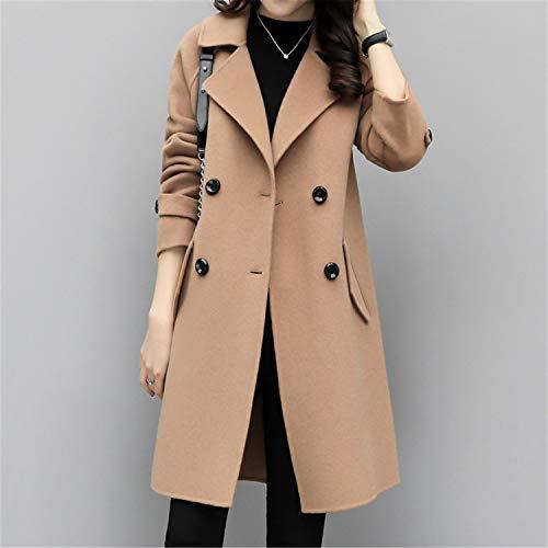 (Autumn and Winter Woolen Parka Women Clothing Wool Coat Women Outerwear Long Slim Women's Coats A1620 Tuo se S)