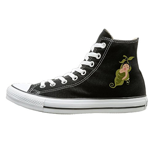 Hilo Canvas Shoes Baby In A Peapod Hi-Top Unisex Canvas Sneaker- Season Lace Ups Shoes Casual Trainers Men And Women 43