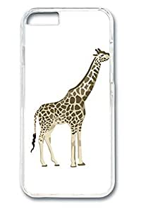 6 plus Case, iPhone 6 plus Case - Slim Fit Cover with Fashion Designs for iPhone 6 Plus Painting Giraffe Protective Clear Hard Case Bumper for iPhone 6 Plus 5.5 inches