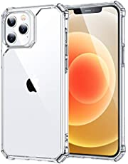 """ESR Air Armor Compatible with iPhone 12 Case/Compatible with iPhone 12 Pro Case (2020) [Military-Grade Drop Protection] [Shock-Absorbing Corners] Hard PC + Flexible TPU Frame, 6.1"""" – Clear"""
